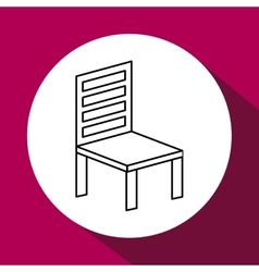 Wood chair design seat icon furniture concept vector