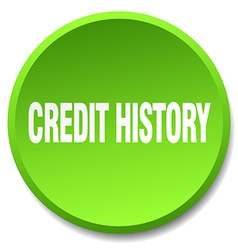 Credit history green round flat isolated push vector