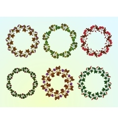 Set of berry frames - wreath vector