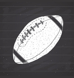american football rugby ball hand drawn grunge vector image