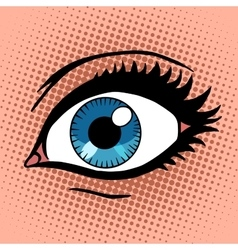 Beautiful female eye with make-up vector