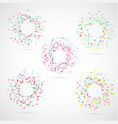 bright colorful abstract circle templates vector image vector image