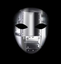 Carnival metal mask vector