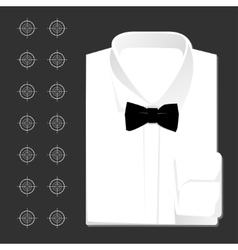 classic white shirt vector image vector image