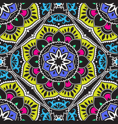 Colorful mandala pattern vector