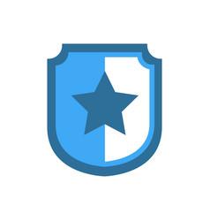 Concave side wankel shield star vector