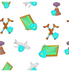 Crash pattern cartoon style vector
