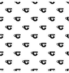 cup pattern vector image
