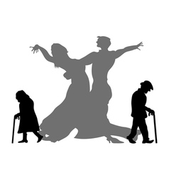 dream to be the dancing partner vector image