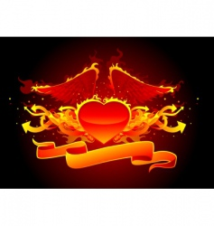 fire and arrows line vector image vector image