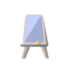 Floor whiteboard isolated icon in flat style vector