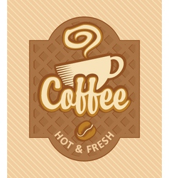 fresh coffee vector image vector image