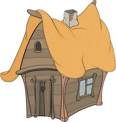 Funny little house vector