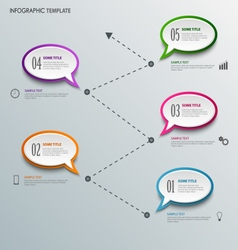 Info graphic with design speaking bubbles template vector