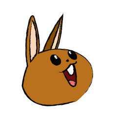 Kawaii rabbit cute animal cartoon image vector