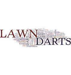 Lawn darts text background word cloud concept vector