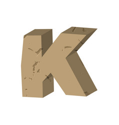 Letter k stone font rock alphabet symbol stones vector