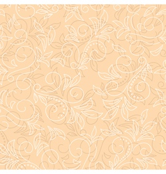 light beige seamless floral background vector image vector image