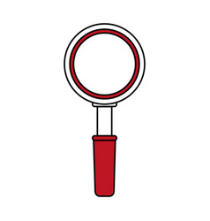 Magnifying glass ector vector