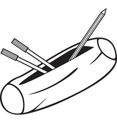 Pencil Box Icon vector image vector image