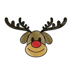 Rudolf christmas cartoon vector