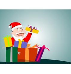 Santa Claus holding gifts vector image vector image