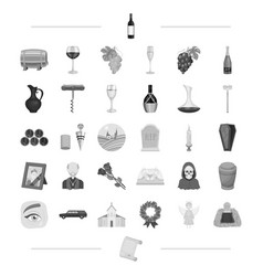 Trawl ritual religion and other web icon in vector