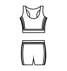 Unisex sport clothes graphic vector