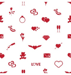 valentines day and love pattern eps10 vector image