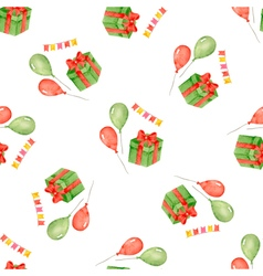 Watercolor seamless pattern for holiday vector