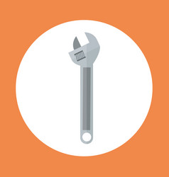 Wrench icon working hand tool equipment concept vector