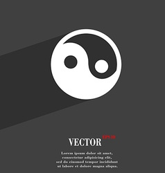 Ying yang icon symbol flat modern web design with vector