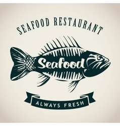 fish for seafood restaurant vector image
