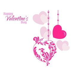 Valentine Designer Hearts Background vector image