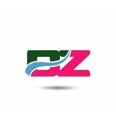 Letter d and z logo vector image
