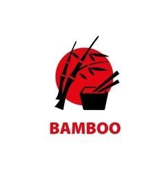 logo bamboo vector image