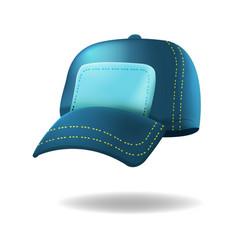 blue baseball hat isolated white vector image