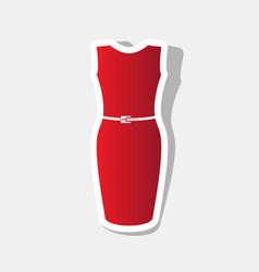 dress sign   new year reddish vector image
