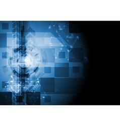Dark blue hi-tech design vector image