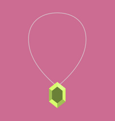 Icon in flat design fashion necklace with precious vector