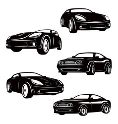 Set of cars icons isolated on white background vector