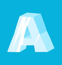 Letter a ice font icicles alphabet freeze vector