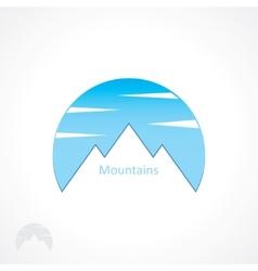 Badge mountains vector