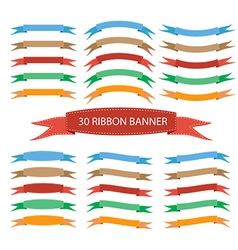 Set of ribbon banner vector