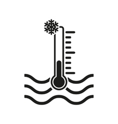 The cold water temperature icon icy liquid symbol vector