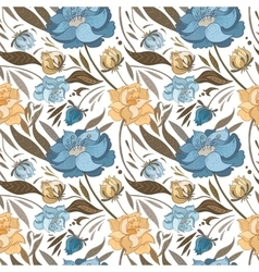 Autumn Floral Pattern vector image