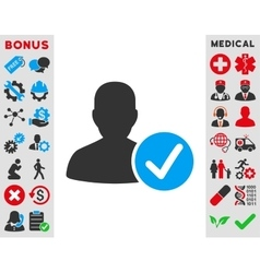 Valid patient icon vector