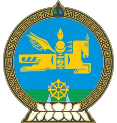 Mongolia Coat-of-Arms vector image
