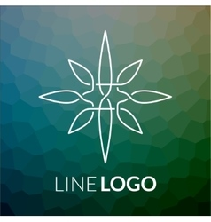 Line art logo icon concept for design vector