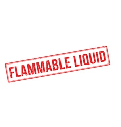 Flammable liquid red rubber stamp on white vector